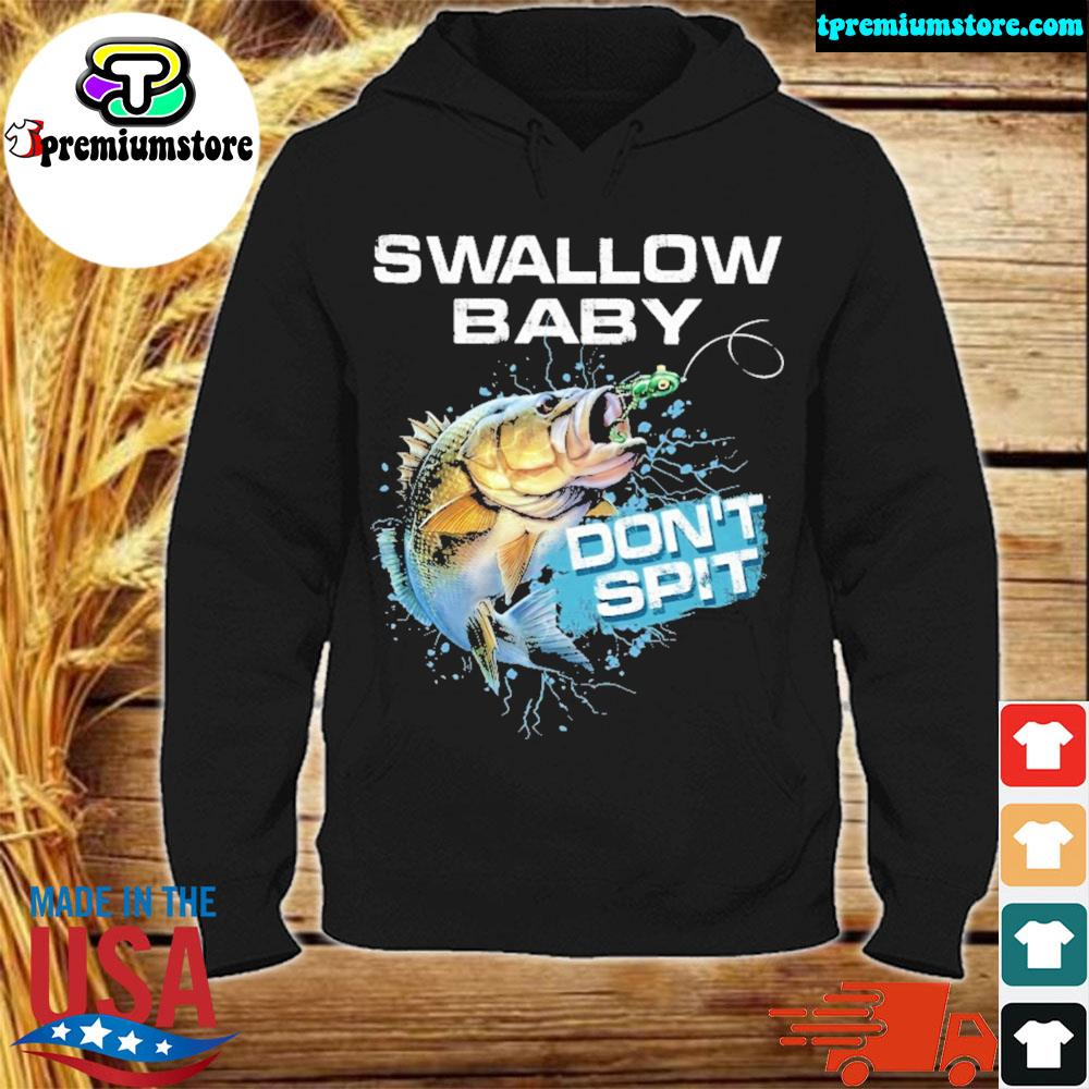 Largemouth Bass swallow baby don't spit s hodie-black