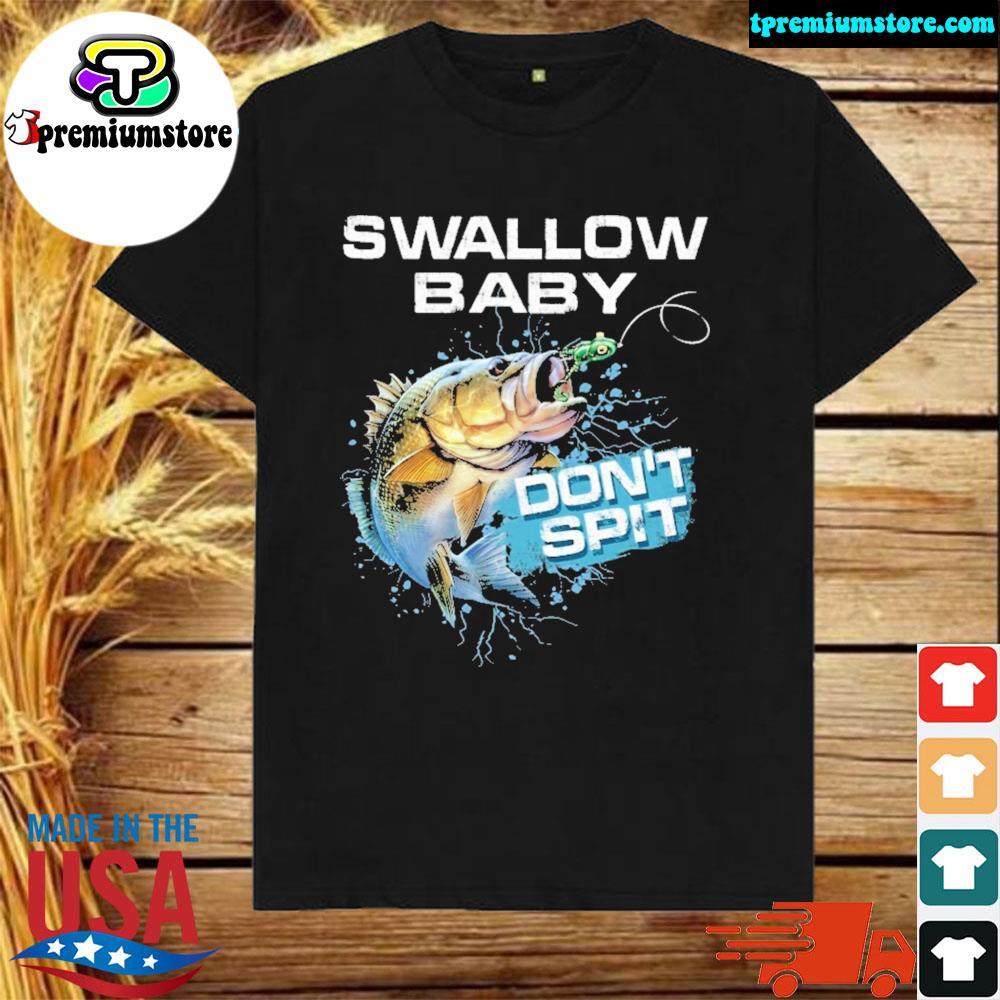 Largemouth Bass swallow baby don't spit shirt