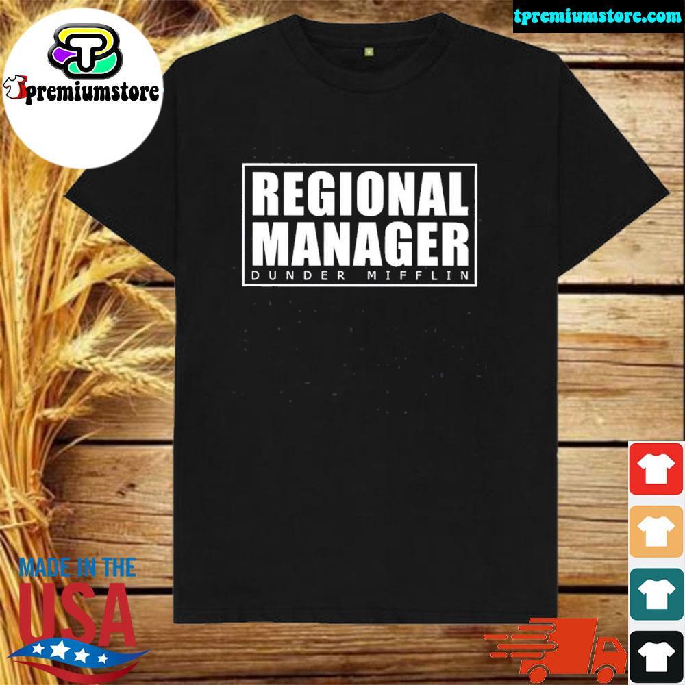 Official regional manager dunder mifflin gift shirt