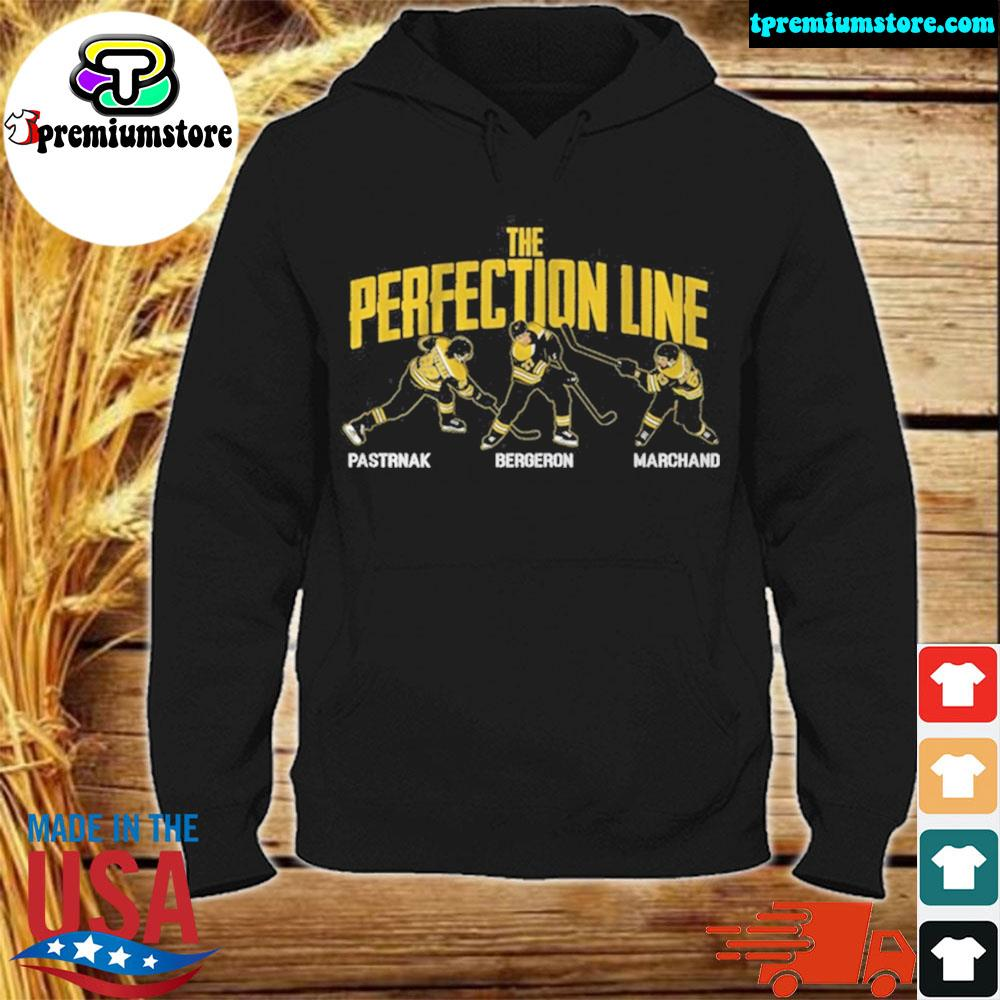 Pastrnak bergeron and marchand perfection line 2021 s hodie-black