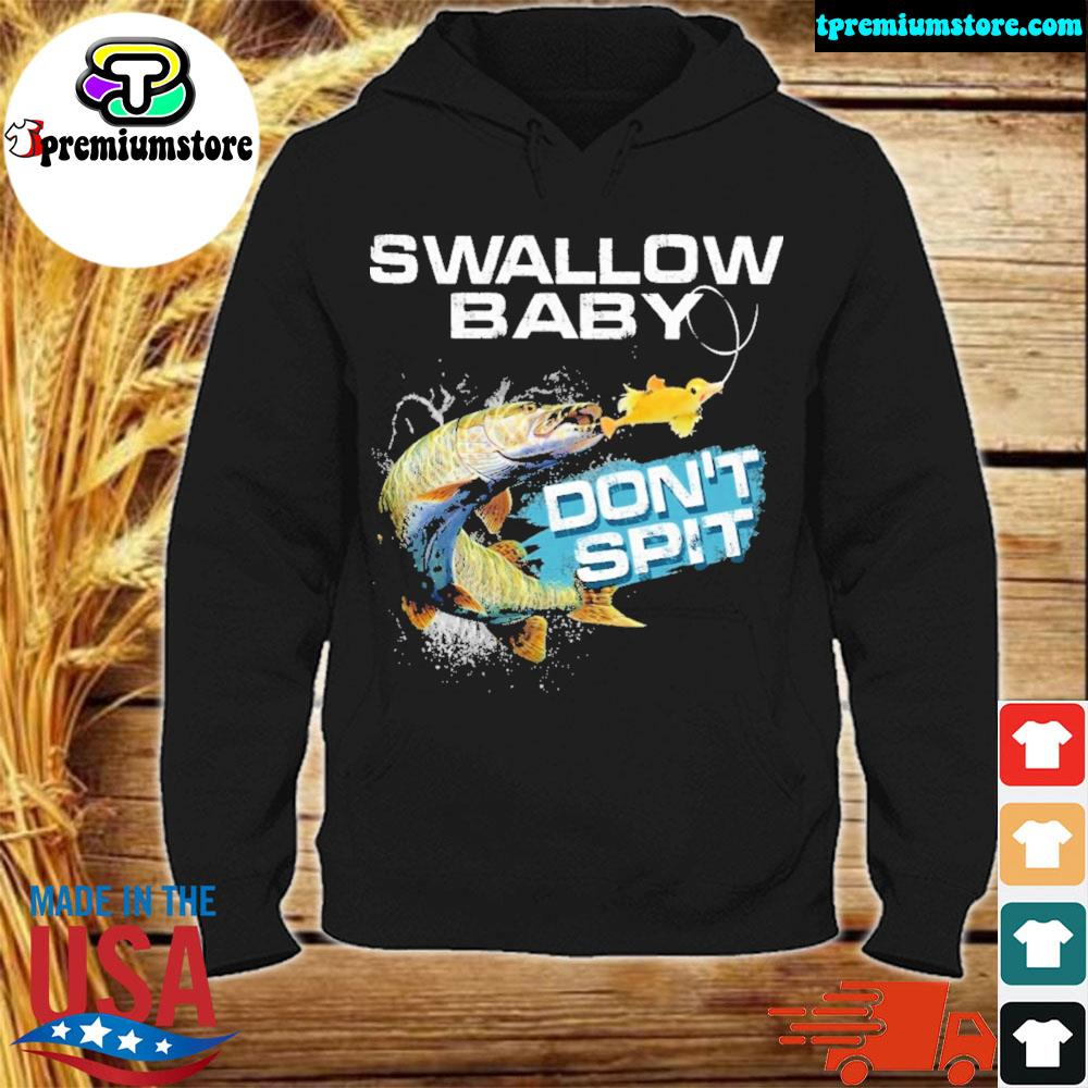 Pike swallow swallow baby don't spit ugly Christmas sweater hodie-black