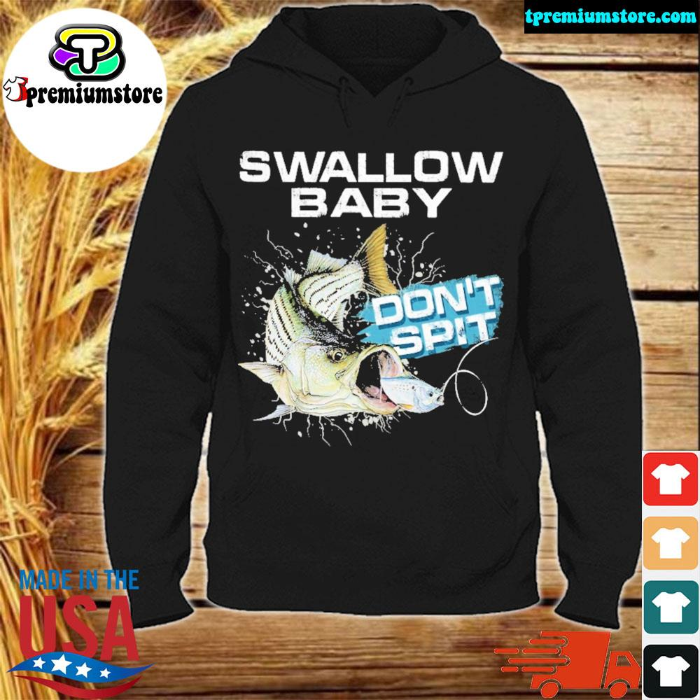 Striper bass swallow baby don't spit ugly Christmas sweater hodie-black
