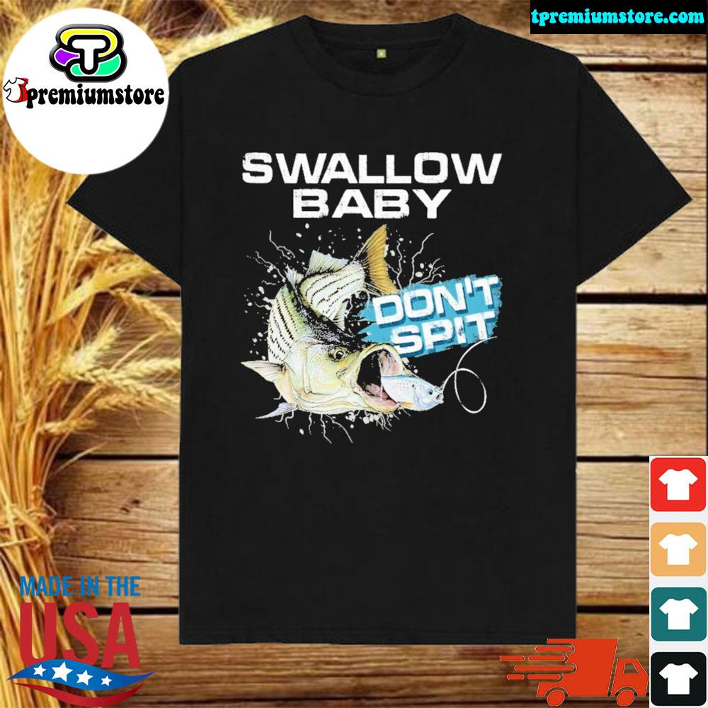 Striper bass swallow baby don't spit ugly Christmas sweater