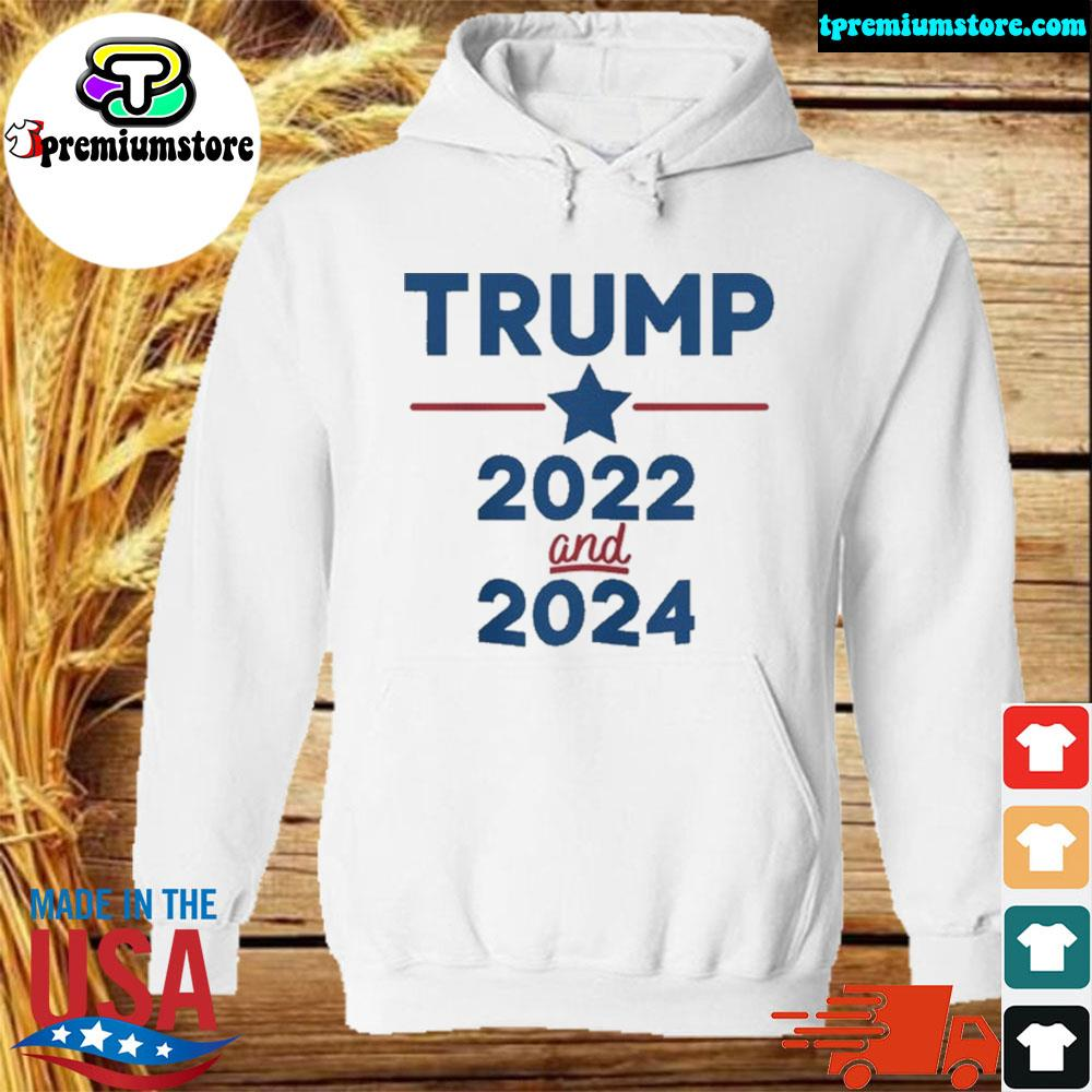 Trump 2022 and 2024 patriotic ugly Christmas sweater hodie-white