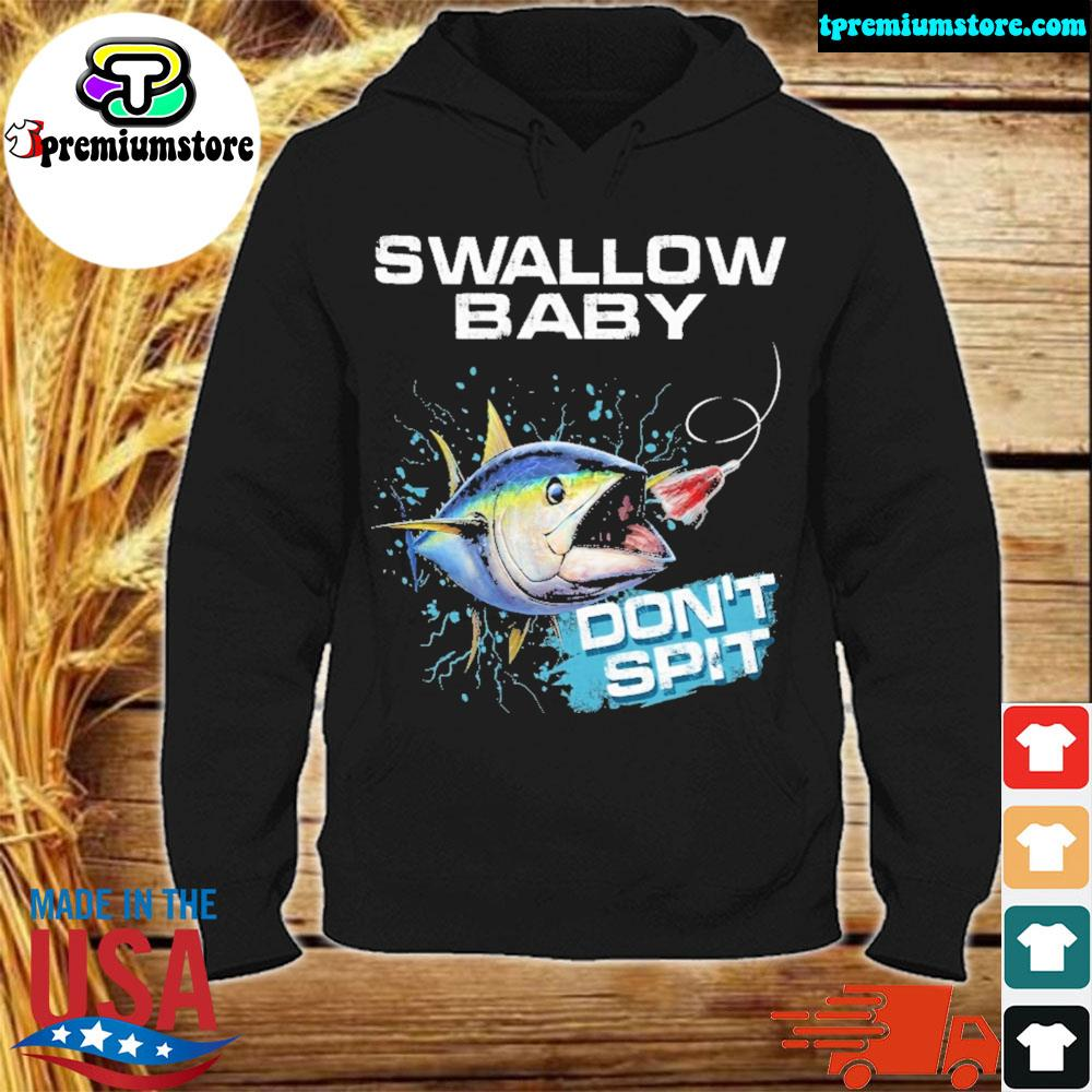 Tuna bass swallow baby don't spit ugly Christmas sweater hodie-black