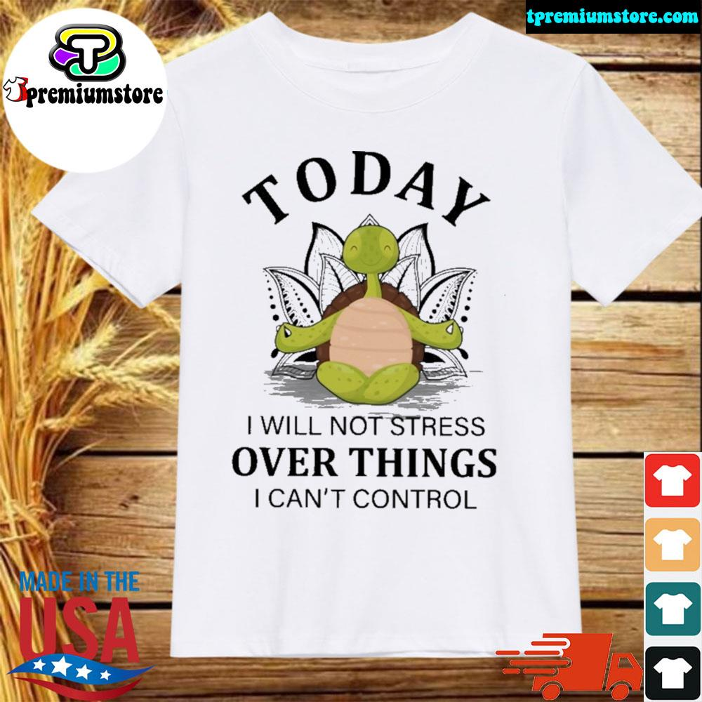 Turtle yoga to day I will not stress over things I can't control shirt