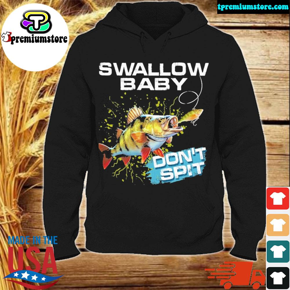 Yellow perch swallow swallow baby don't spit ugly Christmas sweater hodie-black